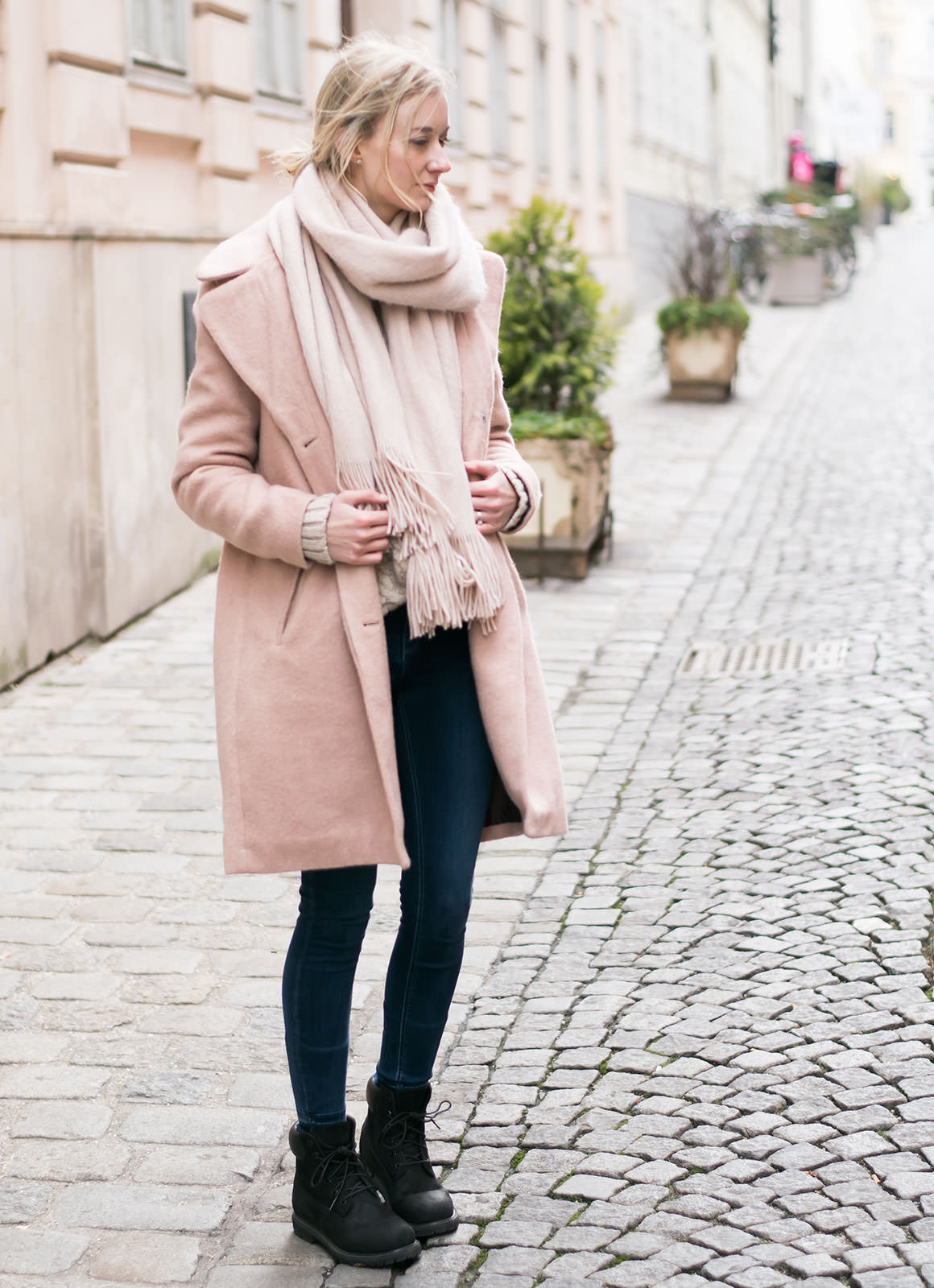 Blush Crush: How to Wear the Pale Pink Coat | Jayde Archives