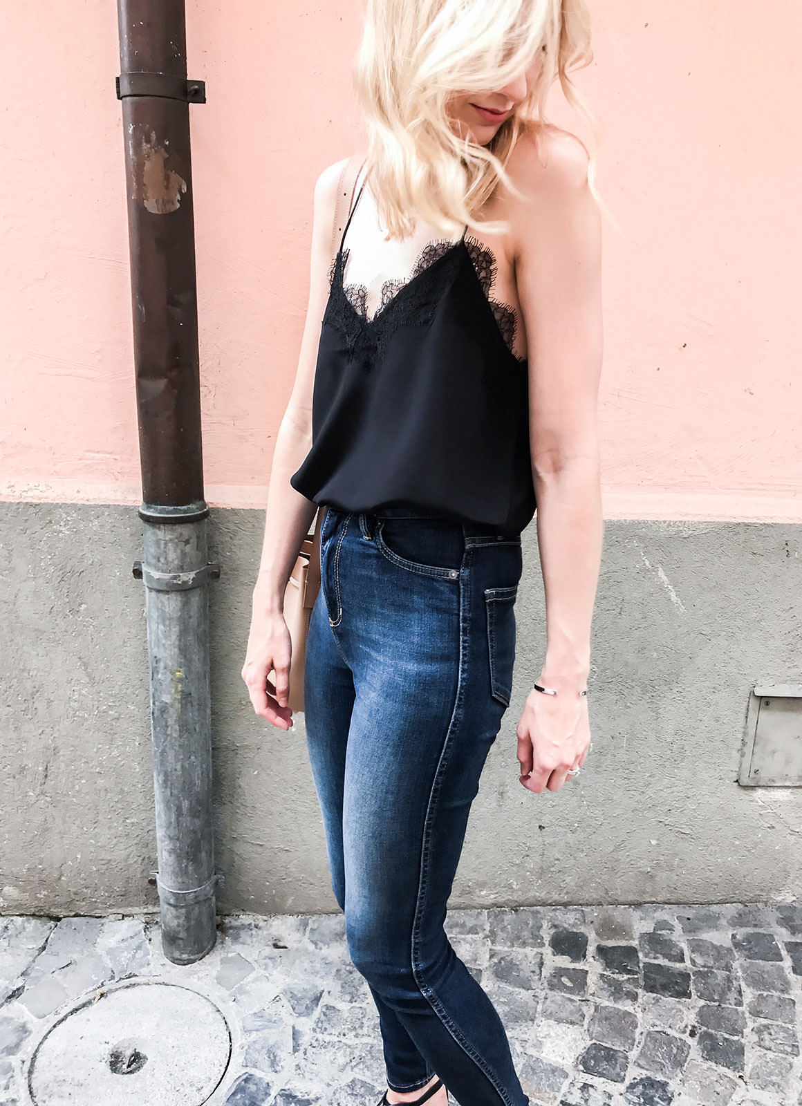 Black Silk Cami
