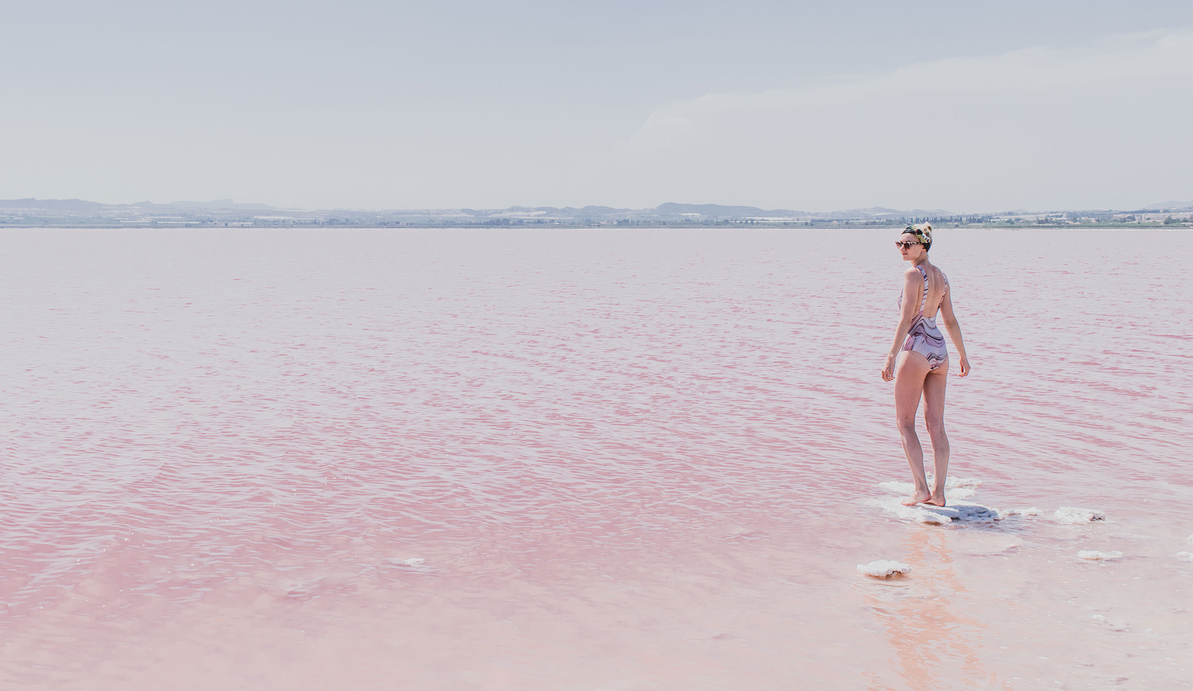 Barcelona to Madrid Road Trip - Laguna Salada, Torrevieja, Spain (Pink Salt Lake)
