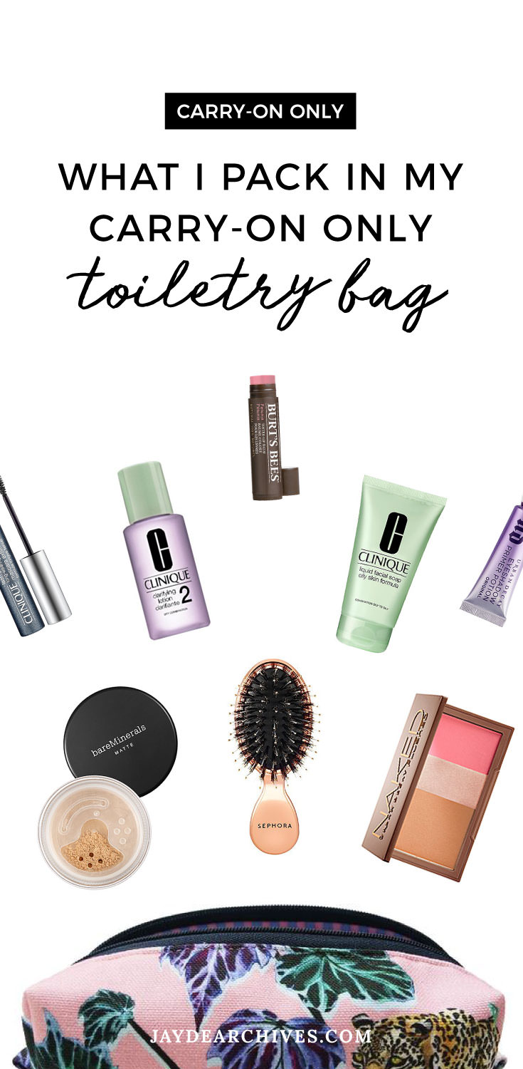 What I Pack in my Carry-on Only Toiletry Bag
