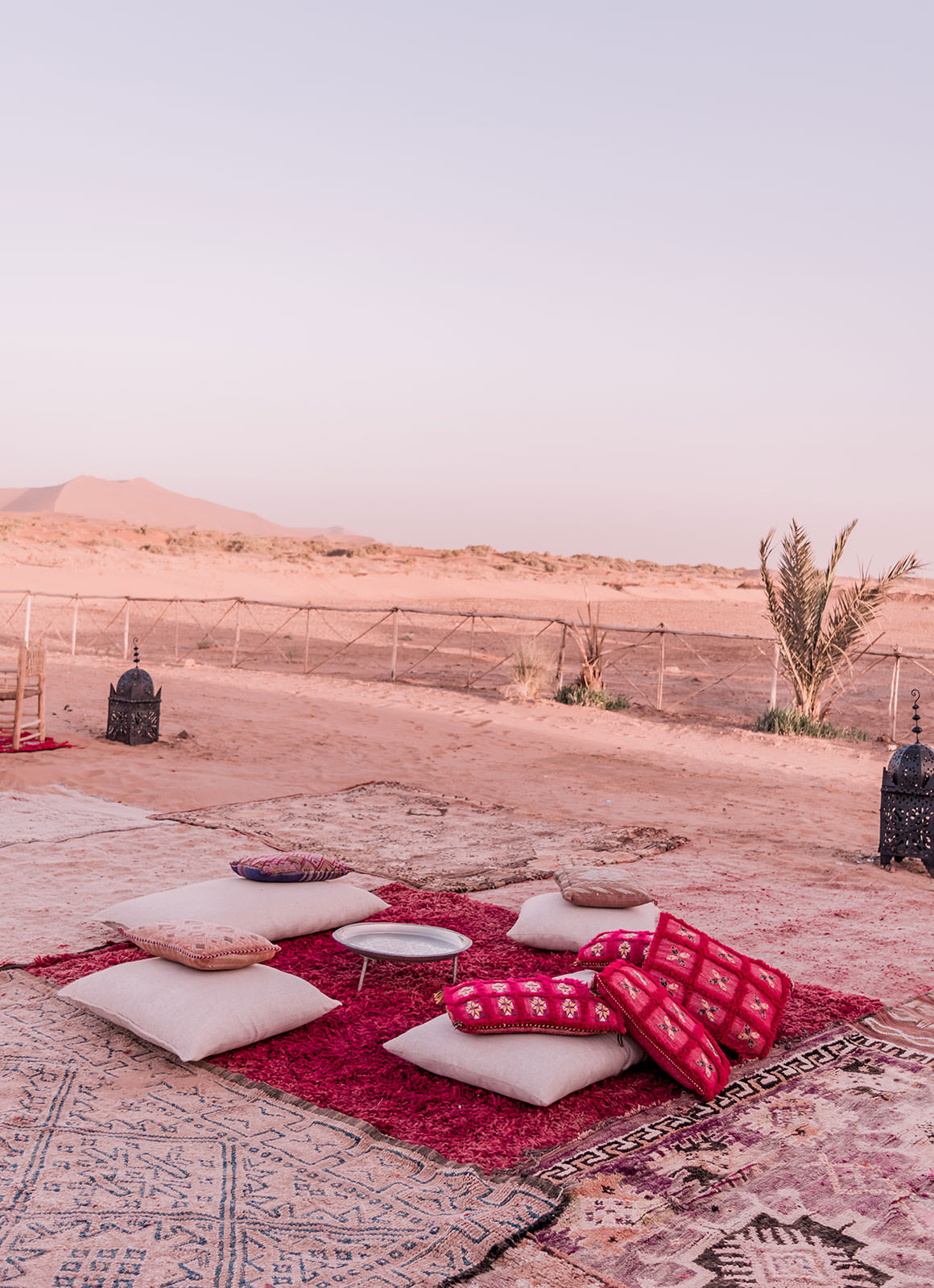 Glamping in the Sahara