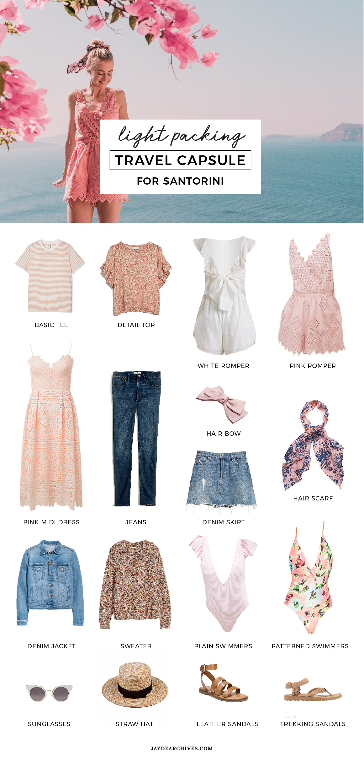 Travel Capsule Wardrobe for Santorini