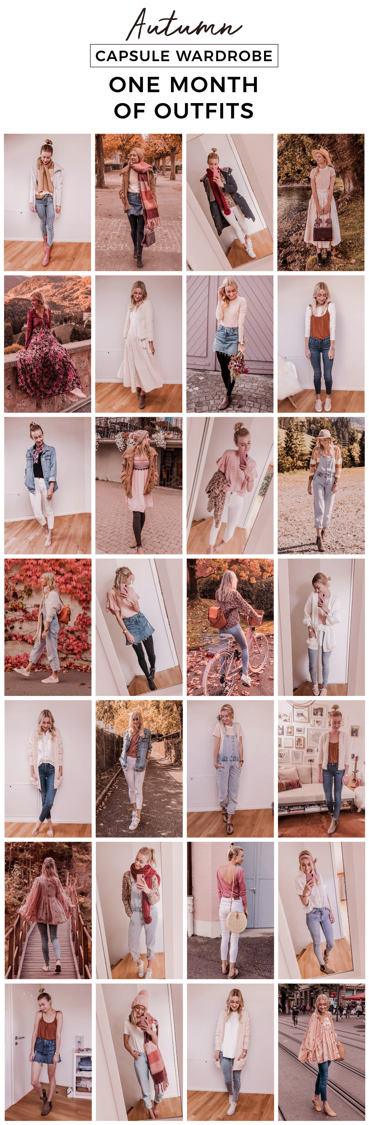 Autumn capsule wardrobe outfits