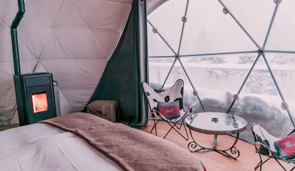 Glamping Luxury Camping Snow Switzerland