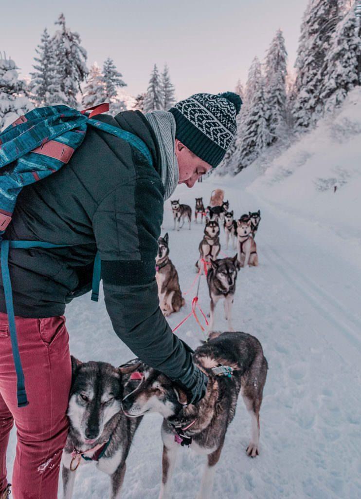 Snow Glamping Husky Sledding Switzerland Whitepod Hotel