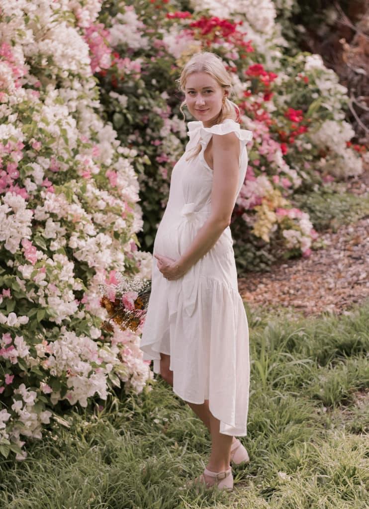 Mindful Pregnancy Announcement Flower Garden