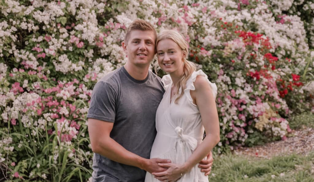 Mindful Pregnancy Announcement Couple