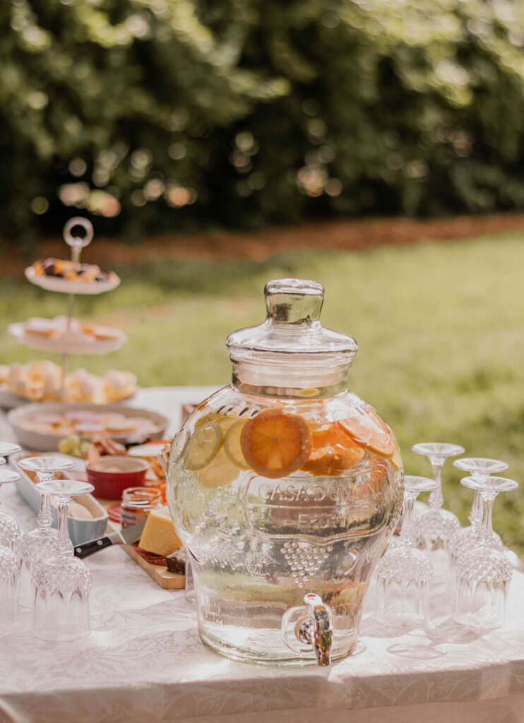 Outdoor Picnic Baby Shower Citrus Theme
