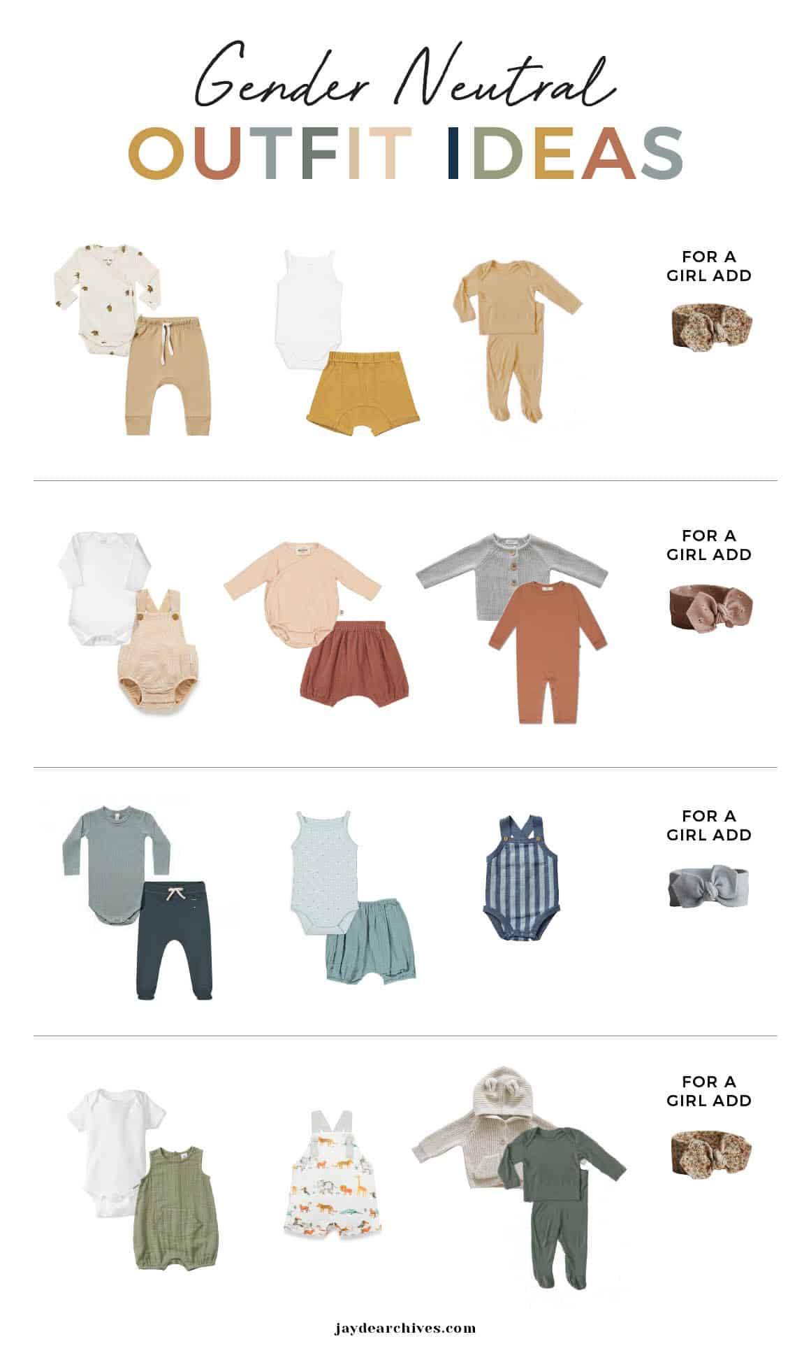 Gender Neutral Baby Capsule Wardrobe Outfit Ideas