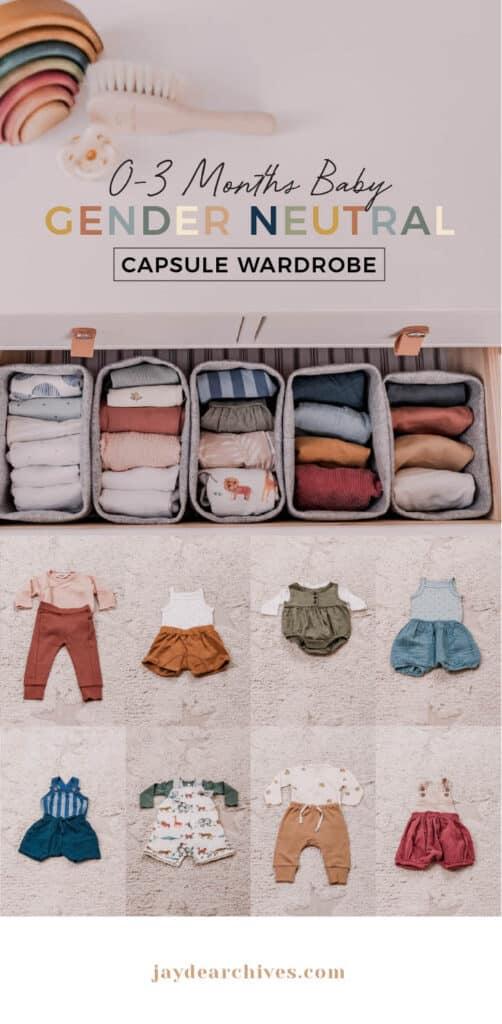 Gender Neutral Baby Capsule Wardrobe