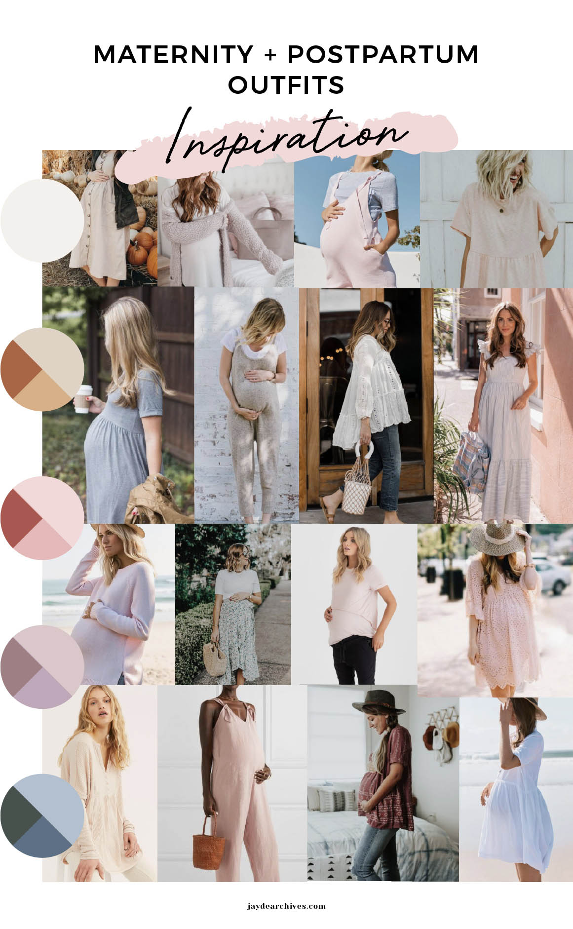 Maternity-Postpartum Capsule Wardrobe Mood Board