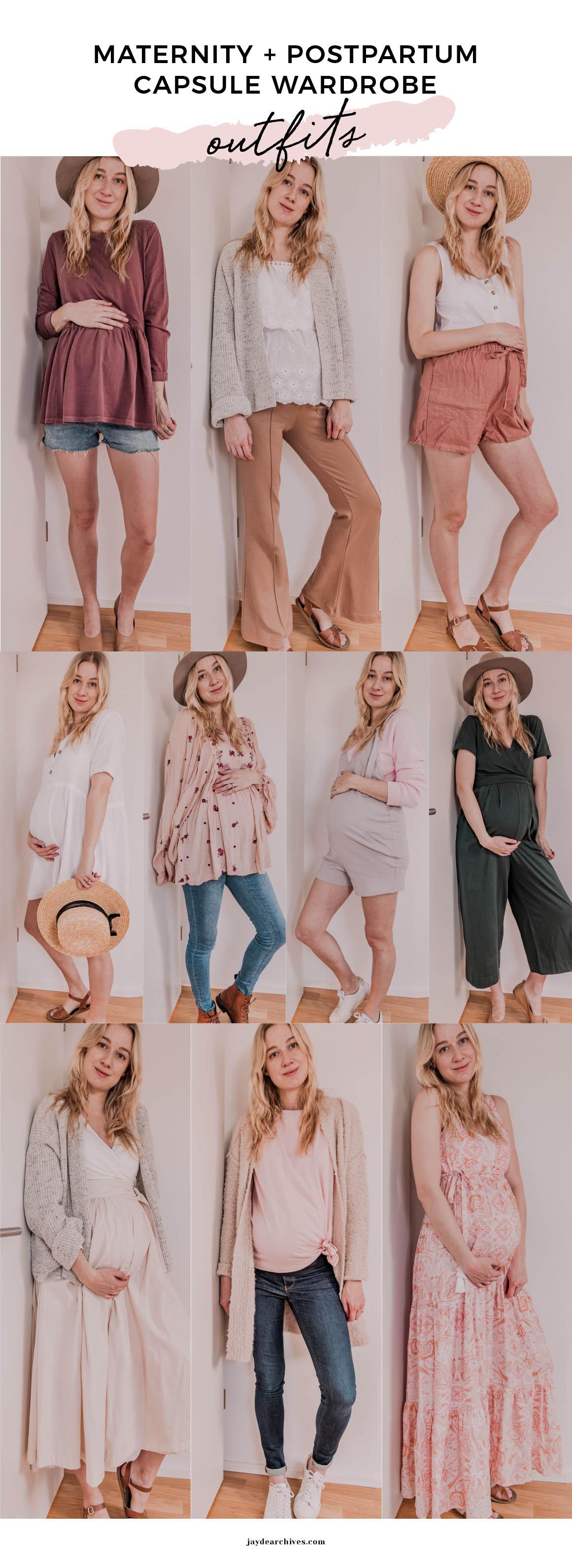 Maternity Postpartum Capsule Wardrobe Outfits